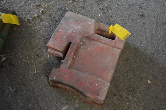 (2) Front suitcase weights