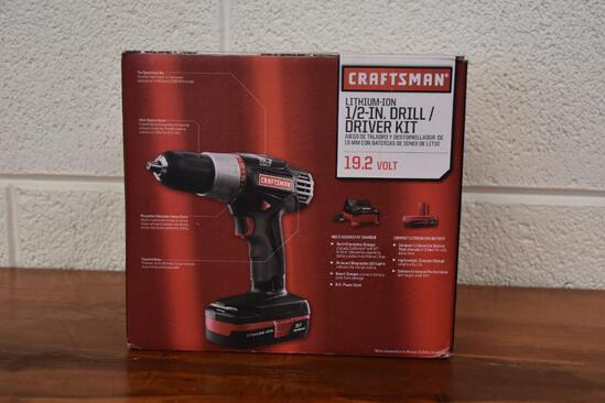 Craftsman 19.2 Volt Lithium-Ion 1/2 in. Drill/ Driver kit