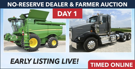 Day 1, Ring 1 - No Reserve Dealer & Farmer Auction