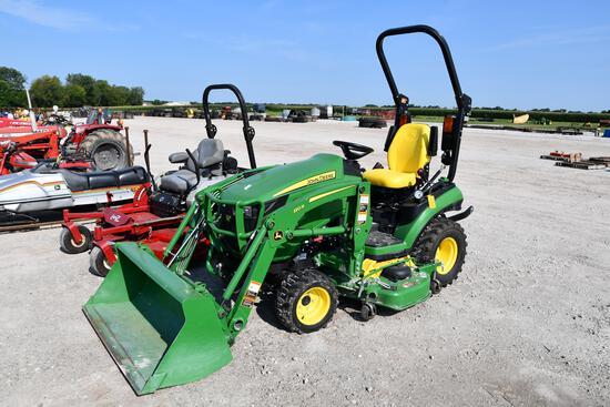 2018 John Deere 1025R MFWD compact utility tractor