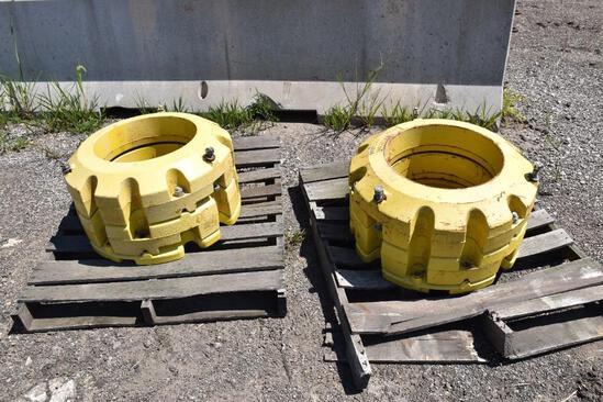 (2) Sets of John Deere wheel weights