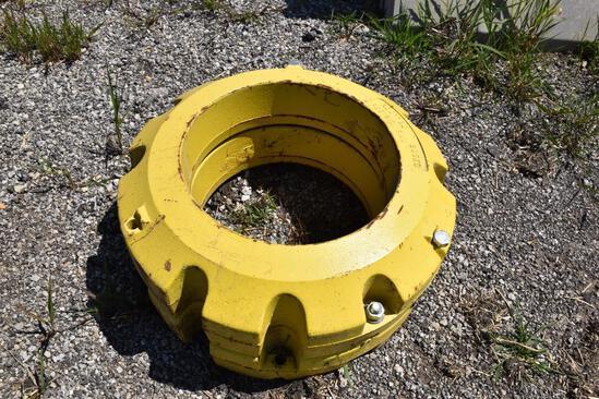 (2) John Deere 450 lb wheel weights