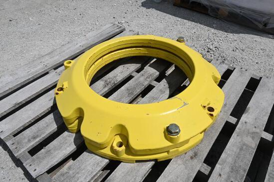 (2) John Deere 165 lb wheel weights
