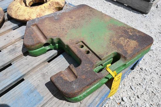 (2) John Deere suitcase weights