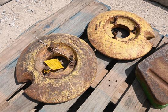 (2) John Deere wheel weights
