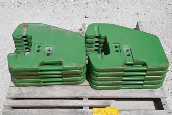 (10) John Deere suitcase weights