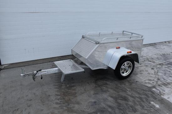 2009 Aluma Ltd. MC TXL aluminum enclosed motorcycle trailer