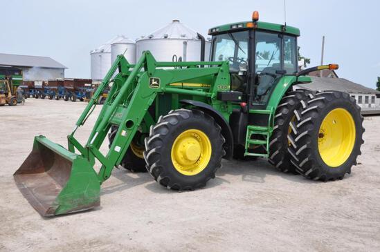 2002 John Deere 7810 MFWD tractor w/loader