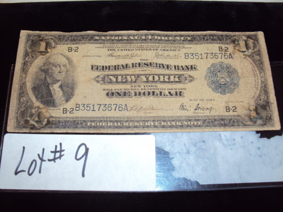 1914 NY FEDERAL RESERVE NOTE