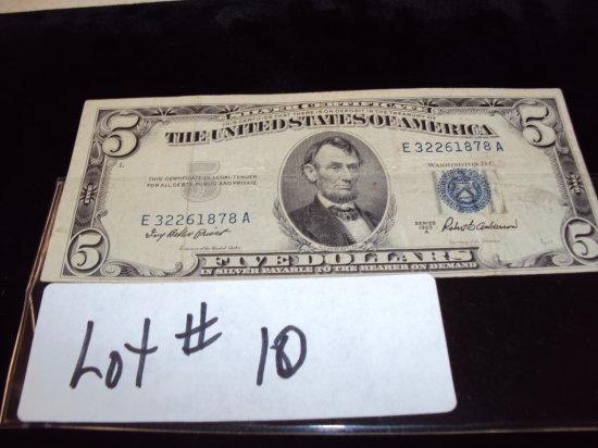 1953 $5 SILVER CERTIFICATE