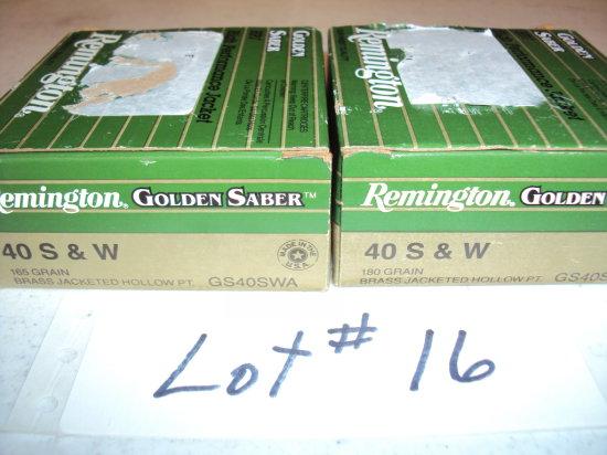2 BX REMINGTON 40 CAL HP AMMO (50 RDS)