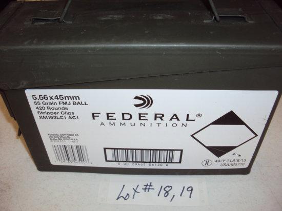 420 RDS FED 556 AMMO w/METAL CASE