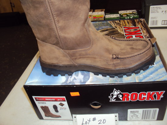 """PAIR OF ROCKY SLIP ON BOOTS """"OUTBACKS"""" CHOICE OF SIZES 9-10-11 (ALL WIDE SIZES NIB)"""