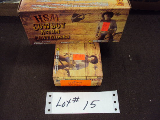 2 BOXES HSM 38/55 CAL AMMO