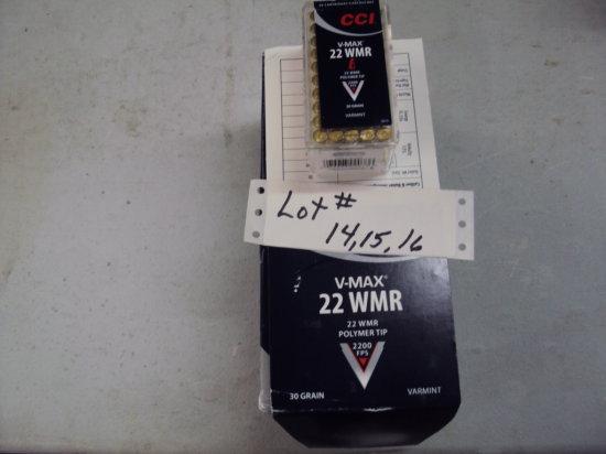 500 ROUNDS CCI 22 WMR VMAX AMMO