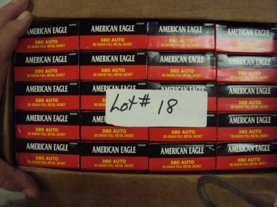 1000 ROUNDS FEDERAL AMERICAN EAGLE 380