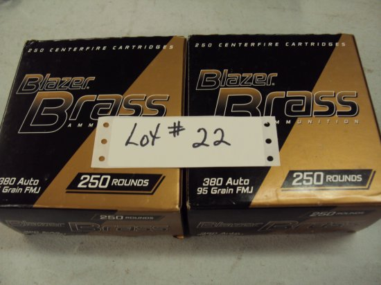 500 ROUNDS CCI/SPEER 380 AMMO