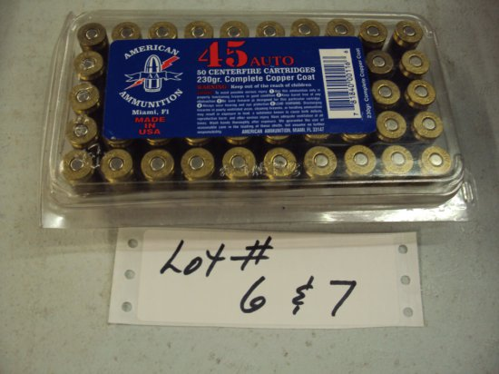 50 ROUNDS OF 45 AMMO