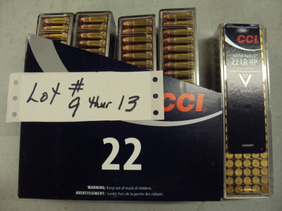 500 ROUNDS CCI 22LR HP MINI MAGS