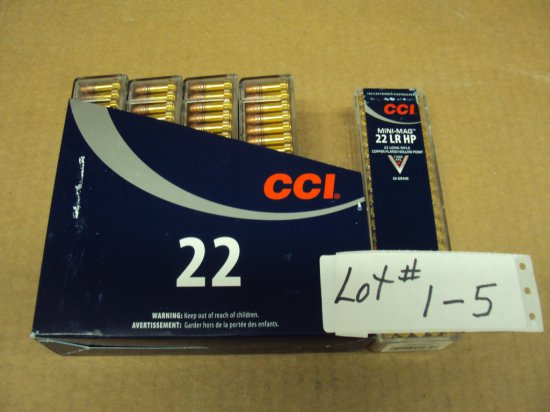 500 ROUNDS CCI 22LR HP AMMO #0031 MINI MAGS