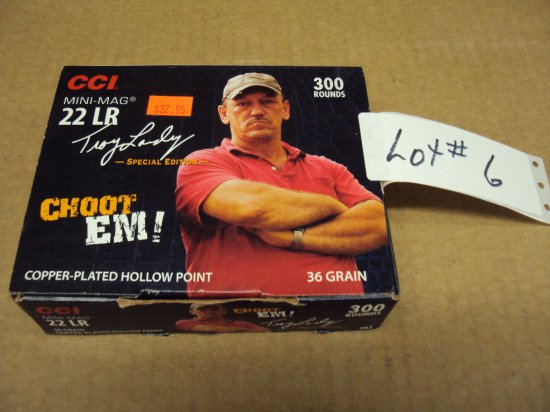 """300 ROUNDS CCI """"TROY"""" 22 CCI MINI MAGS  (COLLECTIBLE BOX)"""