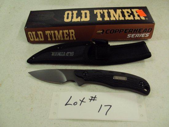 OLD TIMER KNIFE WITH SHEATH NIB
