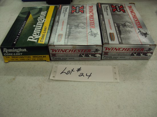 2 1/2 BOXES 7MM REM MAG AMMO