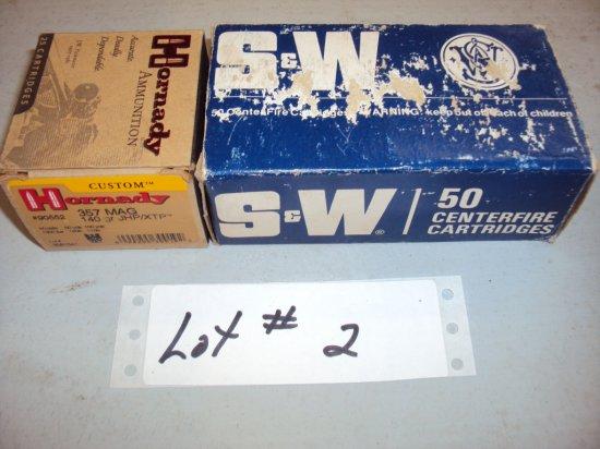 2 BOXES 357 AMMO
