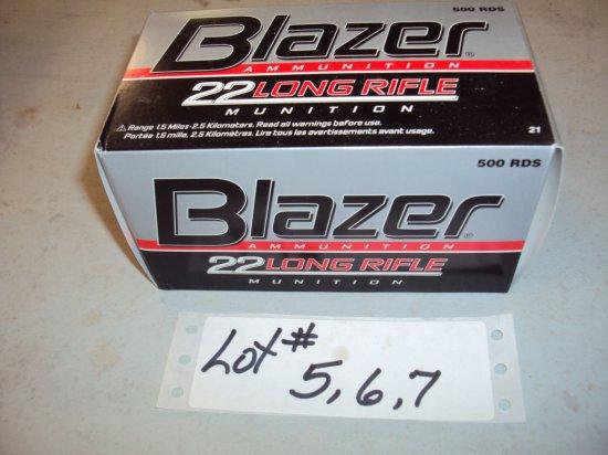 500 ROUNDS BLAZER 22 AMMO