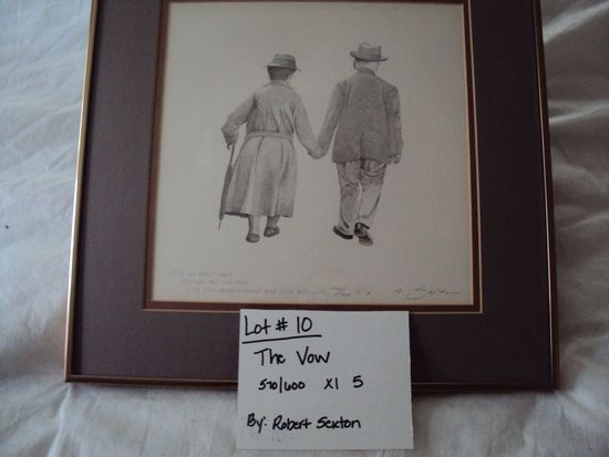 THE VOW, 570/600. XL5, BY ROBERT SEXTON WITH GOLD METAL FRAME
