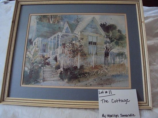 THE COTTAGE BY MARILYN  SIMANDLE WITH WOOD FRAME