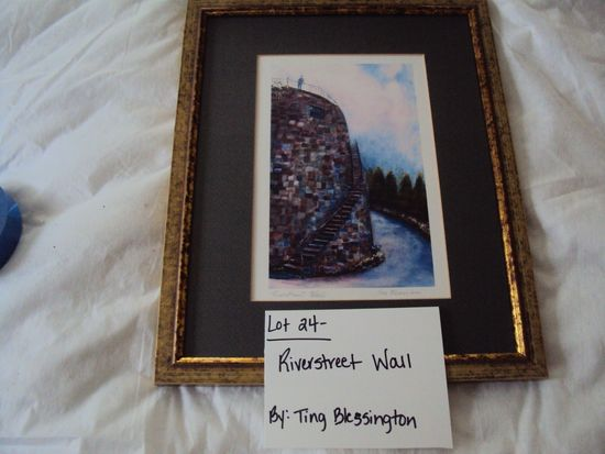 RIVERSTREET WALL BY TING BLESSINGTON WITH GOLD FRAME