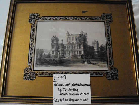 WOLLATON HALL, NOTTINGHAMSHIRE BY JD HARDING, LONDON, JAN 1, 1847 PUBLISHED BY CHAPMAN & HALL WITH G