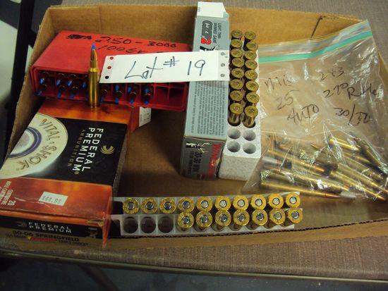 MISC. AMMO - 250/300, 30/30, 30.06, RANDOM BAG