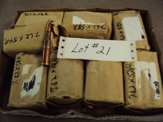 160 ROUNDS 7.62X54R AMMO, COPPER CASING