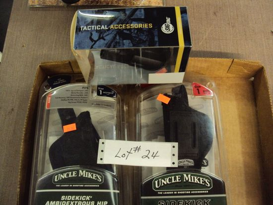 BOX LOT ASSORTED HOLSTERS NEW