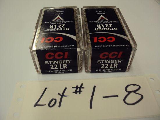 2 BOXES CCI 22 STINGERS NIB