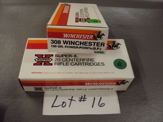 2 BOXES WINCHESTER 308 115 GR AMMO