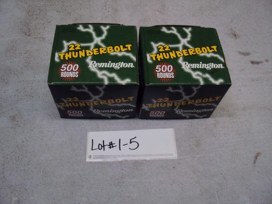 2-500 ROUND BOXES REMINGTON 22LR AMMO
