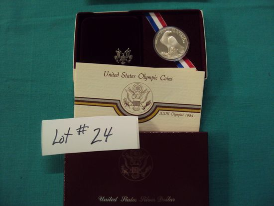 1984 U.S. OLYMPIC SILVER COIN