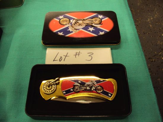 COMMEMORATIVE INDIAN MOTORCYCLE KNIFE