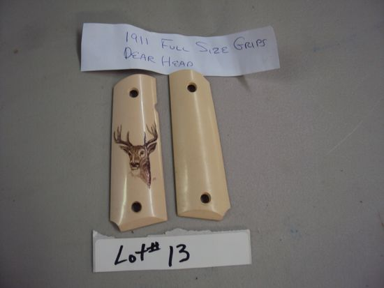 1911 FULL SIZE GRIPS WITH DEER HEAD DESIGN