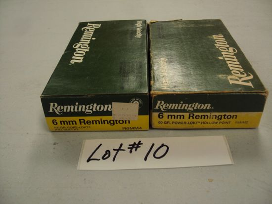 2 BOXES 6MM SAVAGE AMMO