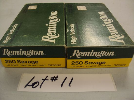 2 BOXES 250 SAVAGE AMMO