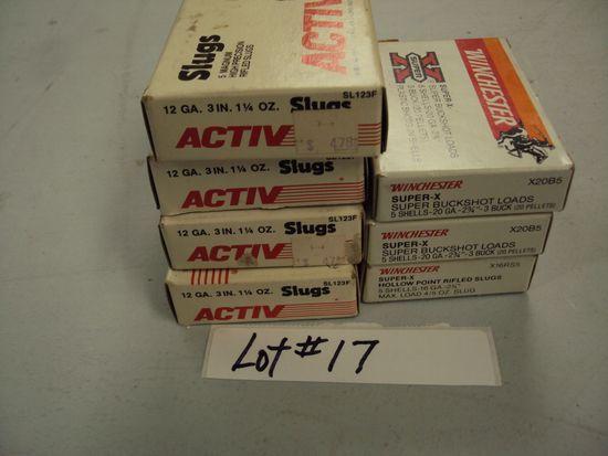 4 BOXES 12G SLUG & 3 BOXES 12G BUCKSHOT
