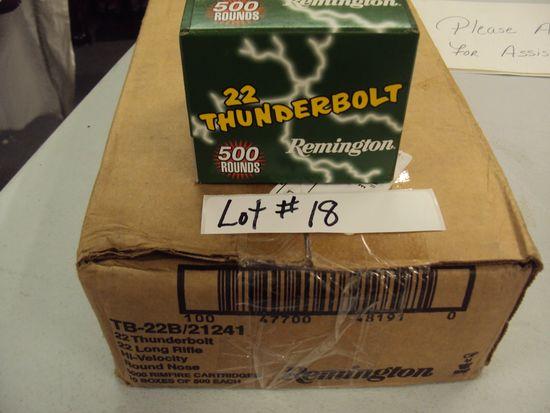 5000 ROUNGS OF REMINGTON THUNDERBOLTS 22LR - NIB