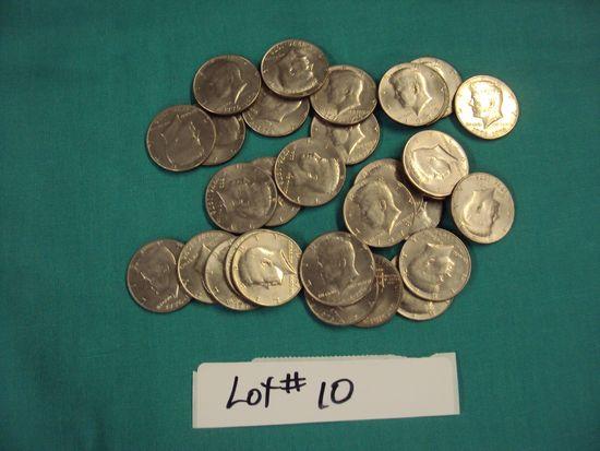 30 KENNEDY 1/2 DOLLARS 1776-1976  BICENTENNIAL