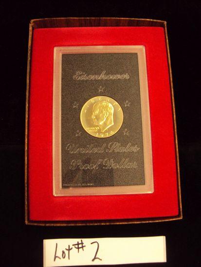 1974 EISENHOWER PROOF DOLLAR IN CASE