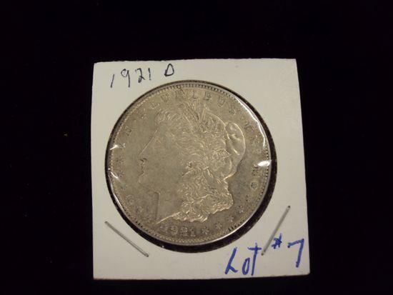 1921-0 MORGAN SILVER DOLLAR