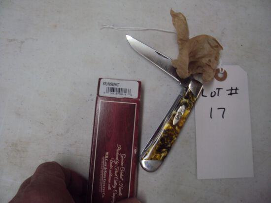 CASE TRAPPER KNIFE  PREMIER EDITION, 24 KARAT ONE OF 2500